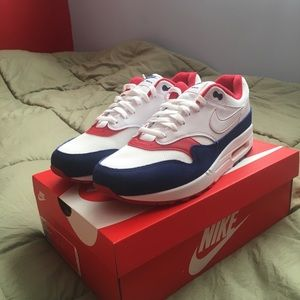 Mens Nike Air Max 1 USA Red / White / Blue Size 11